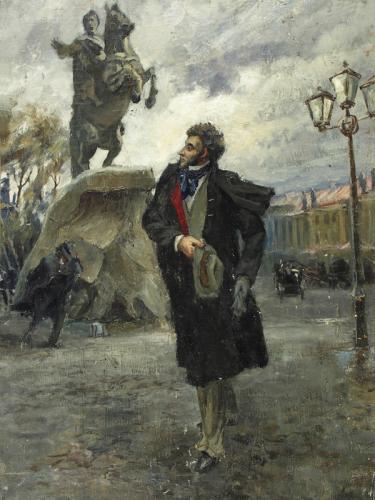 Пушкин и медный всадник.