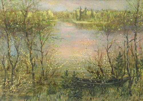 Весной у озера.