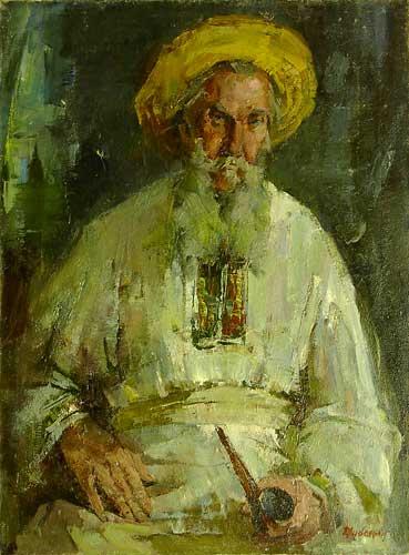Портрет старика с трубкой.