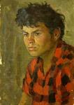 Портрет парня в клечатой рубахе.